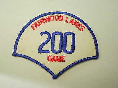 Vintage Fairwood Lanes 200 Game Bowling Iron On Patch
