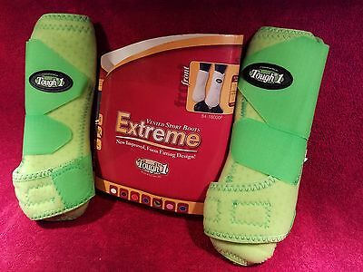 Tough-1 Extreme Vented Sport Boots Front Size Medium / Neon Green