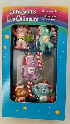 American Greetings Care Bears Miniature Christmas Ornaments Set Of 5, 2005,New
