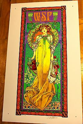 Widespread Panic 30th Anniversary Poster Bob Masse Yellow Variant Uncut Proof