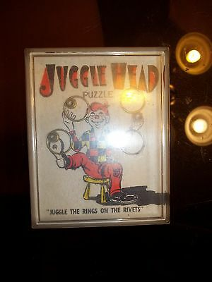 Howdy Doody Juggle Head Puzzle Game (Jiggle The Rings On The Rivets) 1950's Rare
