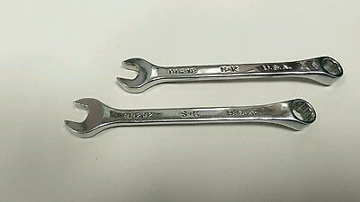 "PAIR USED SK Hand Tools 3/8"" Comination 6pt  & 12pt SAE Wrench 88212 88292"