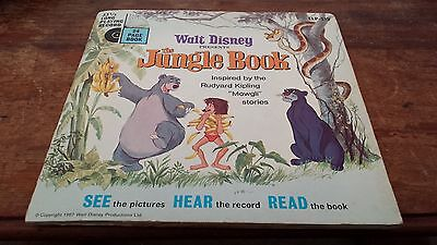 "Walt Disney's The Jungle Book Book and 7"" Vinyl Single Record"