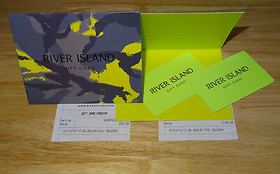 £155 River Island Gift Cards (£100&£55) sent by special delivery (1pm next day)
