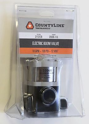 NEW  Countyline 10GPM 100PSI 12V Solenoid Electric Boom Valve 2500B-1 CL 2113176