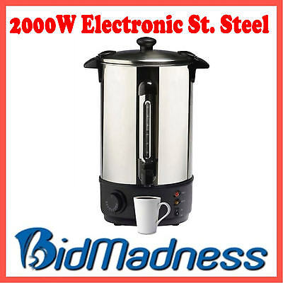 New 8.8L 2000W Electronic Hot Water  Stainless Steel Boiler Urn  **  2 Yr Wnty *