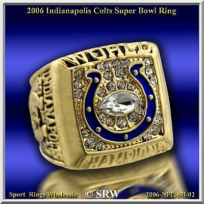 2006 INDIANAPOLIS COLTS 24K GOLD PLATED Championship Ring Size 11