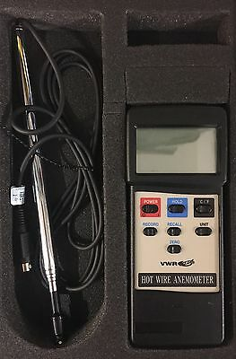 VWR Hot Wire Anemometer / Thermometer -Traceable # 21800-024 New In Case