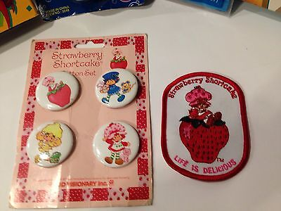 Strawberry Shortcake Pins And Patch