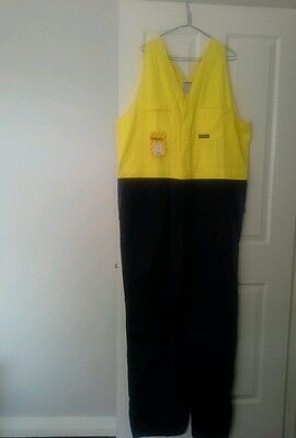 New Action Back Overalls Mens Work Workwear Size 112R