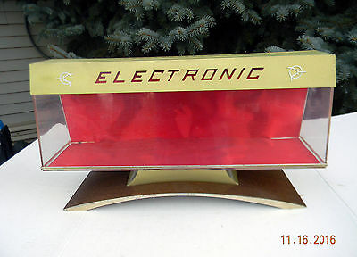 Vintage Mid Century Space Age Retail Store Display Case Electronic