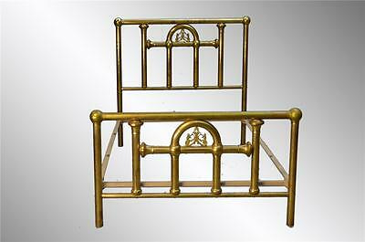 16933 Antique Brass Bed Full Size – Guaranteed Antique