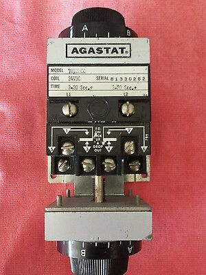 Agastat 7032Occ 70320Cc Dual Time Delay Relay 2-20 Seconds 24Vdc Coil