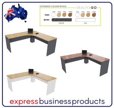 Ready 2 Go Corner Workstation 750mm Deep - Assorted Dimensions and Colours