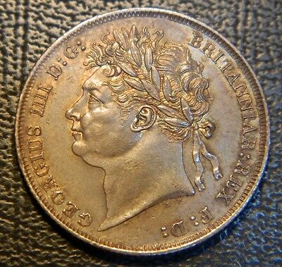 Stunning George Iv 1824 Silver Shilling ,high Grade Beauty .