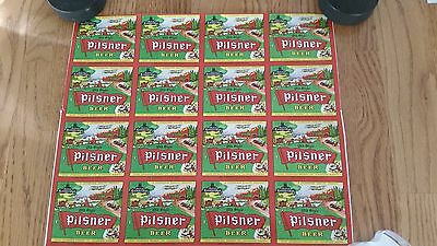 lot of 16 old style pilsner beer labels Sicks brewery