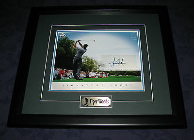 "Tiger Woods Autographed ""signature Shots"" Framed Photo"