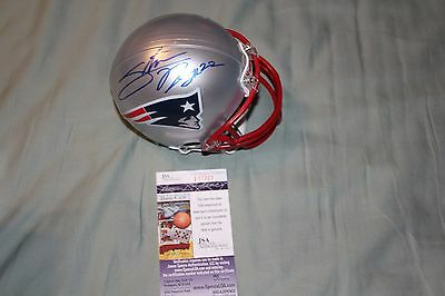 New England Patriots Ridley Signed Mini Helmet JSA COA
