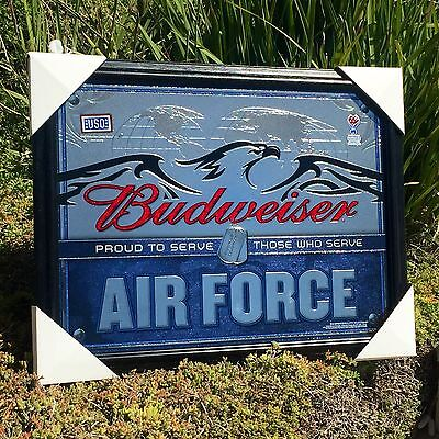 """Budweiser U.S. Air Force Armed Forces Military Beer Bar Pub  Mirror  """"New"""""""