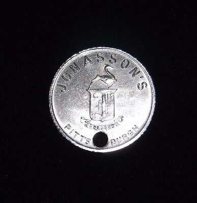 Jonasson's Department Store Pittsburgh, Pa Charge Coin