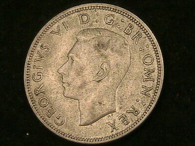 1942 Great Britain Half Crown! Km# 856 Very High Grade Silver Coin Free Shpg (1)