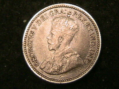 1912 Canada 5 Five Cents!! Km# 22 High Grade Silver Coin! Free Shipping! (1)