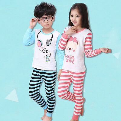 1Set New Children's Thermal Pajamas Underwear Sets Comfortable Soft Winter Suits