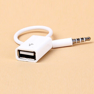 New 3.5mm Male AUX Audio Plug Jack To USB 2.0  Converter Cord Cable Car MP3