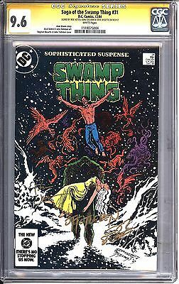* SWAMP Thing #31 CGC SS 9.6 Signed Veitch Totleben Bissette COST (1118075004) *