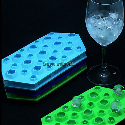 Silicone Diamond Form Ice Trays Cube Mold Chocolate Cake Soap Mould Kitchen Tool