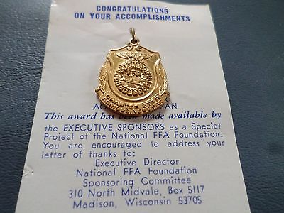 Vintage FFA Future Farmers CHAPTER STAR AGRIBUSINESSMAN Award Medal NEW