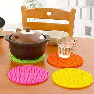 Kitchen Silicone Heat Insulation Mat Coaster Placemat Pot Pan Pad Insulation
