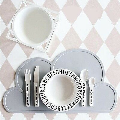 1Pc Silicone Kitchen Baby Kids Cloud Shaped Placemat Bar Plate Table Mat Set Pad
