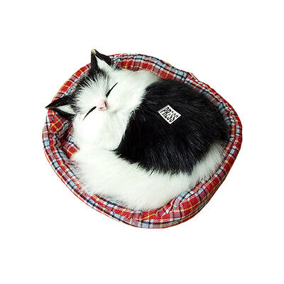 Simulation Sleeping Cats Soft Plush Kids Toys for Children Christmas Decor Gifts