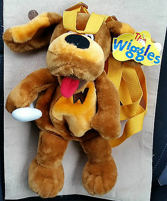 """NEW The Wiggles WAGS the DOG Plush BackPack 15"""" Bag Back Pack Pre-school HTF"""