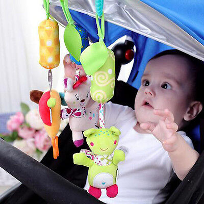 New Baby Infant Crib Hanging Bell Cartoon Toys Stroller Bed Car Hanging Soft Toy