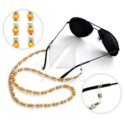 Arylic Beaded Chain for Sunglasses Spectacle Strap Cord Holder Neck Lanyard 60cm