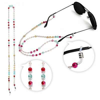 Neck Lanyard Strap Cord Holder Glass Beaded Chain for Sunglasses Spectacle 70cm