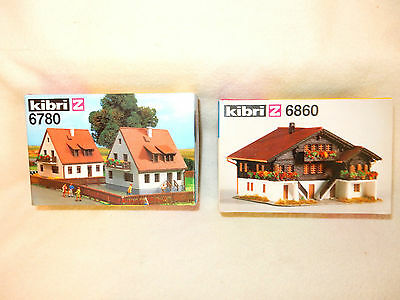 Kibri 6780 Pair Of Rural Houses & Kibri And 6860 Duplex Style House-New In Boxes