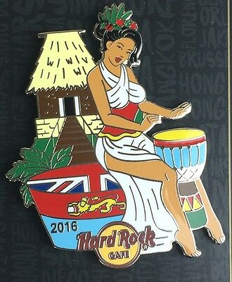 Hard Rock Cafe Online 2016 Sexy Pin Up Girl March Fiji Pin Le50