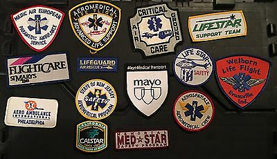 Lot 2 Of 14 Ems Emt Paramedic Ambulance Helicopter Flight Patches Fire Rare