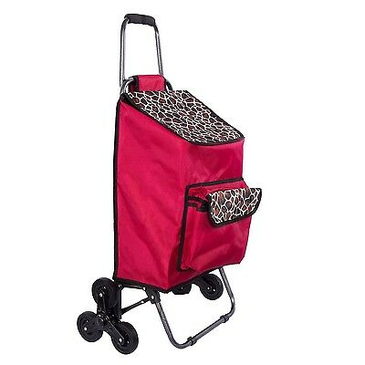 Multipurpose Lightweight Wheeled Shopping Trolley with Front Cooler Bag