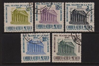 Mexico - #C148-52 Theater Airmail set, cat. $ 17.80