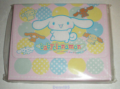 VERY CUTE & HTF! 2002 Sanrio BABY CINNAMON Stationery Set #1! NEW! RARELY SEEN!