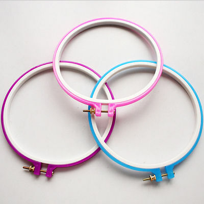 1Pc Adjustable Ring Card Slot Embroider Cross-stitch Tools Random Color 4Sizes