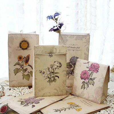 6pcs Christmas Kraft Paper Bag Biscuits Gift Bags Party Wedding Packaging
