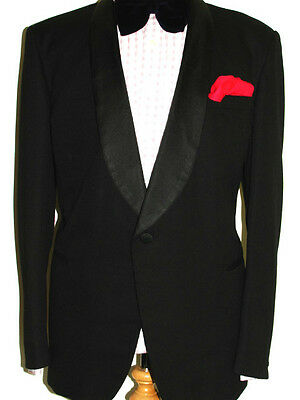 Mens Bespoke By Sumrie Heavy Vintage One Button Front Dinner Suit Uk44 W38 L33
