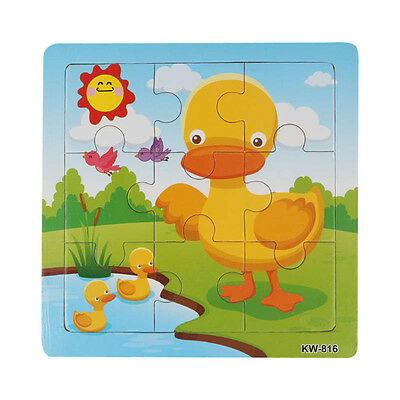 Wooden Duck Jigsaw Toys For Kids Education &Learning Puzzles Toys Yellow Duck OK