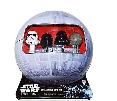 Star Wars Rogue One PEZ Gift Set in Exclusive Collectible Death Star Tin