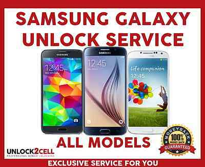Unlock Code Samsung Galaxy S6 S5 S4 S3 Note 5 4 3 2 Core Prime Alpha Bell Virgin